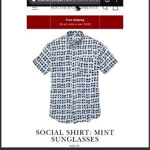 Southern Proper Social shirt: Mint Sunglasses